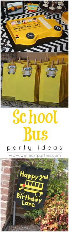 "Party ideas for any school bus or ""Wheels On The Bus"" lovers!"