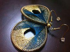 NEW Verahandmade thread earrings by Funky Lobez by FunkyLobez, $22.00
