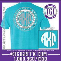 TGI Greek - Alpha Chi Omega - Sorority PR - Comfort Colors - Greek T-shirts #tgigreek #alphachiomega