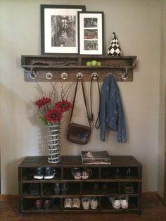 DIY Pallet Shoe Rack – #Shoe #Storage!! | 101 Pallets