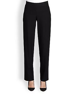 Eileen Fisher Stretch Straight-Leg Pants