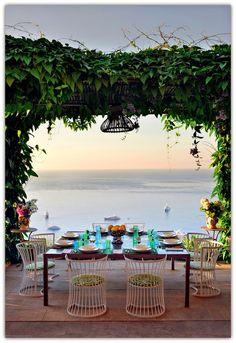 A chic house in Capri