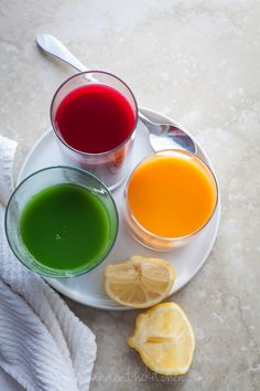 Three Vegetable Juices from Gourmande in the Kitchen Drinking Your Veggies | A Trio of Juice Recipes
