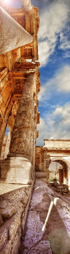 Ephesus, Turkey.  This makes sense as, if I saw this, I would have to lay on my back and look at the sky.  The beauty of the ancient world.