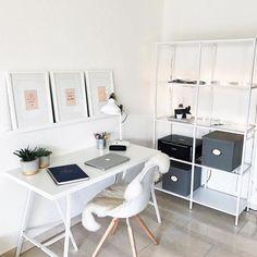 Ikea 'Lerberg' trestles, 'Ranarp' table lamp & 'Vittsjö' shelf