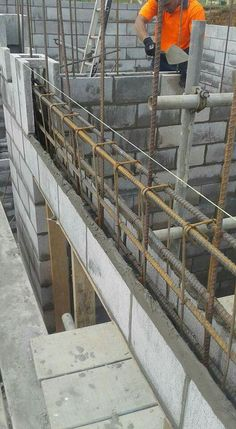 building work is under construction Framing Construction, Brick Construction, Construction Design, Arch Building, Building Structure, Building A House, Facade Design, Roof Design, House Design