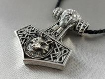Mjölnir Тора молот Викинг кулон волк 925S 16г