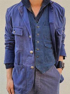 HTOOHTOOH Men Leisure Notch Neck Long Sleeves African Print Slim Fit Suit Jacket