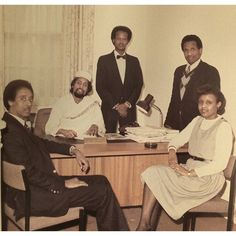 Somali Embassy - The First Secretary of the Somali Embassy to the United Kingdom and his administrative staff in London. This photo was taken the day the late Ambassador Salah Mohamed Ali presented his credentials to Queen Elizabeth Mohamed Ali, Somali, African History, Secretary, Queen Elizabeth, 1980s, United Kingdom, London, Gallery