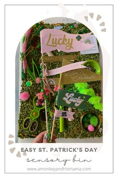How to Create a Fun and Easy St. Patrick's Day Sensory Bin // St. Patrick's Day Themed Sensory Bin // St. Patrick's Day Homeschool ideas // preschool homeschool ideas // easy sensory bin ideas // sensory bin DIY // low cost sensory bin ideas Parenting Memes, Kids And Parenting, Family Activities, Toddler Activities, Spring Projects, Toddler Fun, Sensory Bins, Imaginative Play, Kids Health