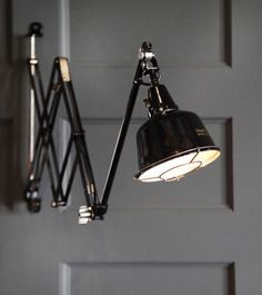 Midgard Adjustable Black Wall Lamp