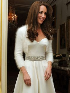 This is one of my favorite dresses she has worn for the private reception following their wedding.  Kate looks absolutely stunning!