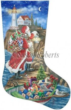 Christmas Needlepoint | Liz by Susan Roberts Designs | Needlepoint ...