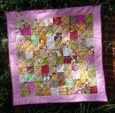 Bohemian Chicklett Patchwork Baby or Toddler Quilt - MADE TO ORDER. $95.00, via Etsy.