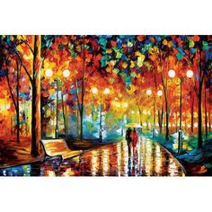 "Andover Mills Rain's Rustle II'  Painting Print on Wrapped Canvas Size: 18"" H x 26"" W x 1.5"" D"