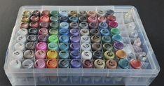 Mandy By Design: Stickles Organization Box – Scrapbooking Scrapbook Room Organization, Scrapbook Storage, Craft Organization, Diy Scrapbook, Organizing Crafts, Organization Station, Scrapbooking Ideas, Craft Room Storage, Craft Rooms