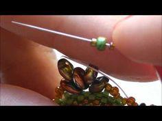 "DIY: TUTORIAL Ciondolo/orecchino "" GREEN"" superduo"