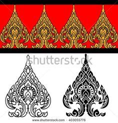 Thai pattern design , Thai Art , Vector