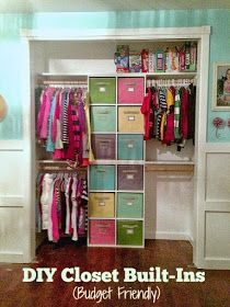 One Thrifty Chick: Quick Fix Closet Organization... @debbiec10 this would be perfect for Ava's closet don't ya think?