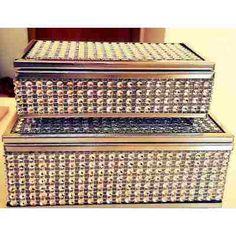 Porta-jóias Caixinha Em Strass C/ Espelho Kit (2 Unidades) - R$ 55,90 no MercadoLivre