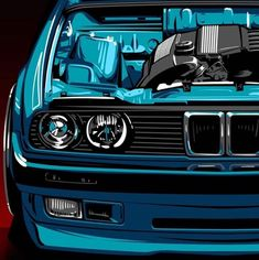 I'm excited to see where I am in 1 year from now. Bmw E30 Coupe, Bmw E30 M3, Bmw E30 Convertible, Bmw Wallpapers, Bmw Autos, Car Illustration, Car Drawings, Automotive Art, Bmw Cars