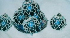 Victorian style beaded, draped ornaments - I so love these!!