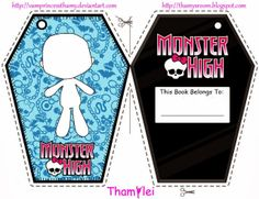 Monster High: Book Plate or Bookmark