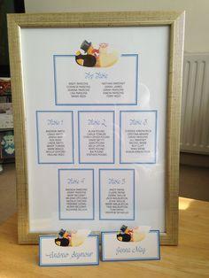 Table Plan #wedding #bride&groom #ducks by Stef Hinkley
