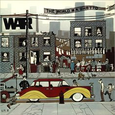Title: The World Is a Ghetto Band: War. Famous Album Covers, Cool Album Covers, Used Vinyl Records, Vinyl Cd, Lp Cover, Cover Art, Funk Bands, Concert Posters, Music Posters