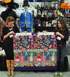 Frida la Catrina by Alexander Henry, Cotton, Border Print, $9.95/yard.  Clearly, a novelty fabric, but wouldn't it make a fun dress for those of us who admire Frida Kahlo?