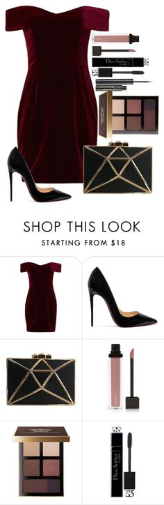 """Untitled #1642"" by fabianarveloc on Polyvore featuring Nicholas, Christian Louboutin, Jouer, Bobbi Brown Cosmetics, Christian Dior and Elizabeth Arden"