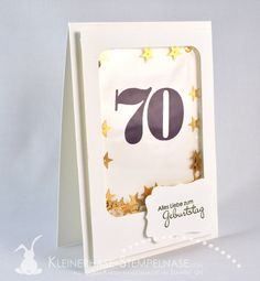 Stampin Up Larger than Life PErfekte Pärchen Shaker Card 70. Geburtstag 01