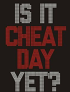 Is It CHEAT DAY Yest?  Crystal Bling Hot Fix Transfers iron on bling Red & Clear 7x10