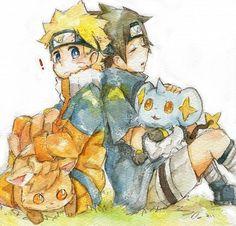 Cute naruto and Pokemon crossover