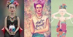 ilustraciones de Frida Kahlo en conmemoración de su muerte