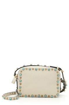 Valentino 'Rockstud - Alce' Camera Leather Crossbody Bag available at #Nordstrom