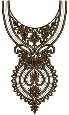 Neck Embroidery Design 12550