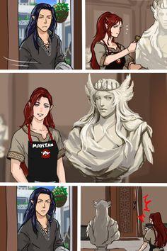 D39 - Fëanor, Nerdanel and Manwë 1