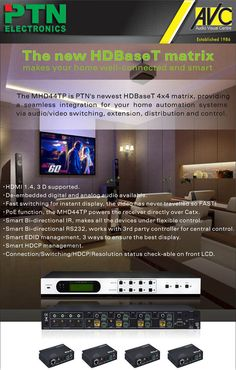 PTN HD BaseT Matrix (MHD44TP) Home Automation System, Electronics
