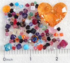 100 Assorted Swarovski Crystal Beads Clearance Truly in Love Heart Bicone Cube #Assorted