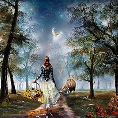 Thou wilt shew me the path of life: in thy presence is fulness of joy; at thy right hand there are pleasures for evermore. ~Psalm 16:11 KJV~✨.  The Perfect Path Digital Art by Dolores Develde
