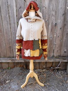 Upcycled Sweater Autumn Recycled Clothing Festival by ThankfulRose, $75.00