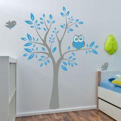 Baum mit Eule Wandtattoo
