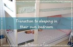 Transición a su propia habitación - Transition to their own bedroom • Montessori en Casa