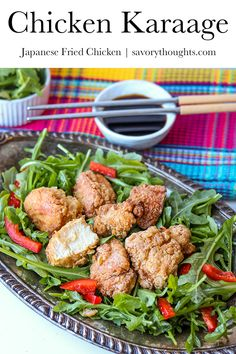 The most amazing Japanese Fried Chicken recipe you'll ever taste, ever! This Chicken Karaage is fried to perfection to leave you a crispy juicy result.  #japanesefriedchicken #asianchicken #chickenrecipes #friedchicken #msavorythoughts Japanese Fried Chicken, Making Fried Chicken, Chicken Fried Steak, Tandoori Chicken, Fried Whiting Recipe, Chicken In The Corn, Chicken Karaage Recipe, Cauliflower Mashed Potatoes, Asian Recipes