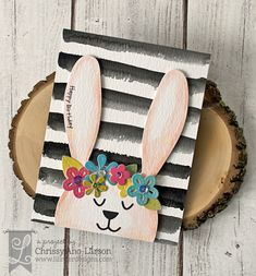 Three In the Nest Creations (Chrissy) Lil' Inker Designs - Peek-A-Boo Bunny Die, Perky Posies Die Set, Easter Parade Stamps Paper Cards, Diy Cards, Vintage Birthday Cards, Easter Parade, Scrapbooking, Embossed Cards, Vintage Birds, Mothers Day Cards, Artisanal