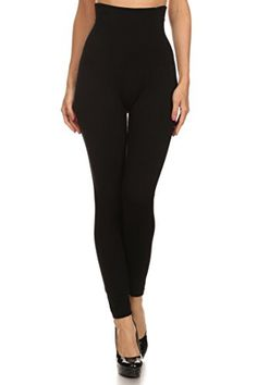 Womens High Waist Compression Top Leggings French Terry Lining Black One Size *** Want to know more, click on the image. (Note:Amazon affiliate link)