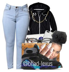 """""""youre my worst distraction. """" by bhad-lexus ❤ liked on Polyvore featuring Aéropostale, Nivea, Native Union, MCM and NIKE"""