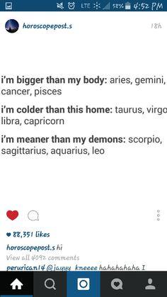 The Aquarius one is SO true! Hahahaha!