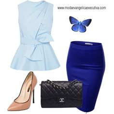 """Azul"" by gessilene-ferreira on Polyvore"